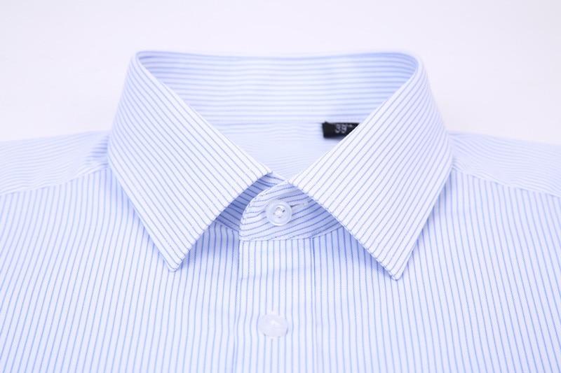 Wysokiej jakości nieprasowana koszula męska z krótkim  xuS0e