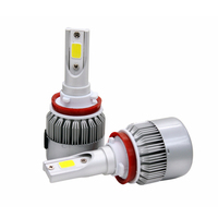 2pcs Lot Car LED Headlight C6 COB Chip 30w 3800LM 8 48v DC H8 H9 H11