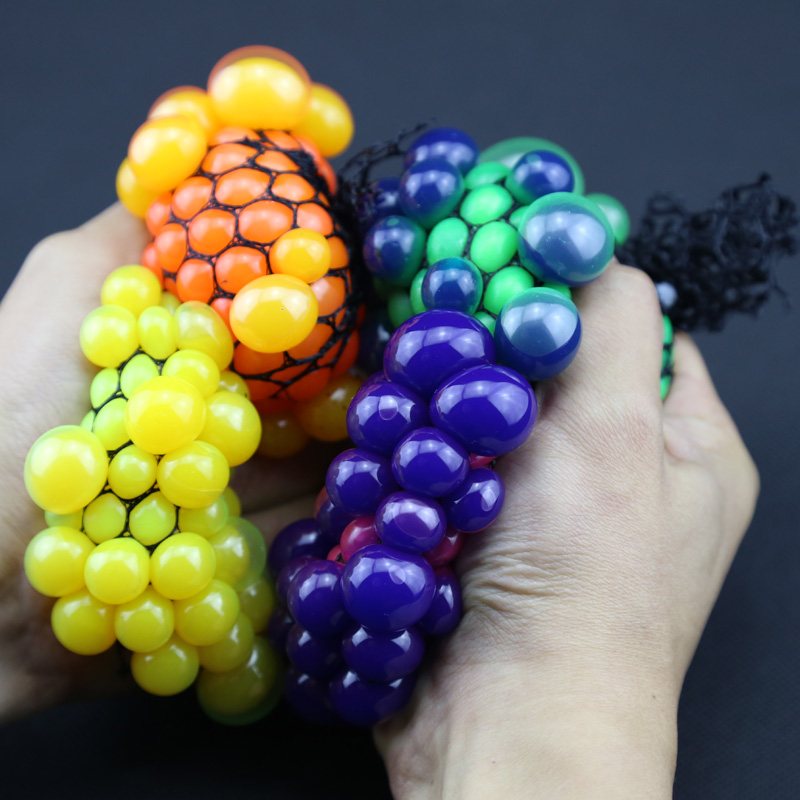 5cm New Cute Anti Stress Face Reliever Grape Ball Autism Mood Squeeze Relief Healthy Toy Funny Geek Gadget Vent Toy pop out eyes doll stress reliever relief squeeze toy monkey pink