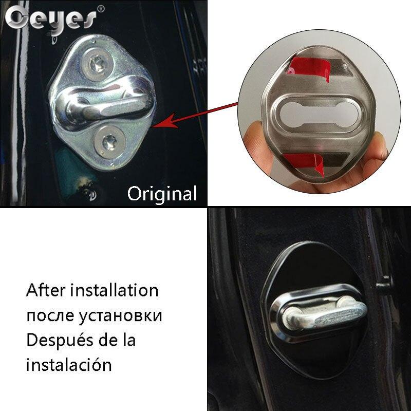 Ceyes Door Lock Covers Stickers For Suzuki SX4 Grs Grand Vitara Jimny Alto Splash Swift Samurai Auto Accessories Oem Car Styling