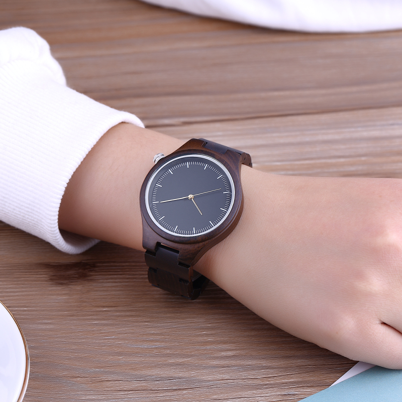 Black Women Bamboo Watch