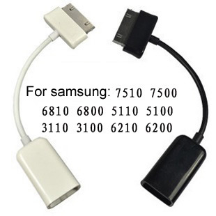 Mini Micro USB Host OTG Cable Adapter For Samsung Galaxy Tab 2 10.1 8.9 7.7 7.0 Note N8000 P7510 P7500 P6800 P5100 P5110