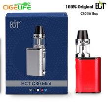5pcs/lot Original ECTC30 Mini Electronic Cigarette Kit 40W Box Mod e-cigarettes 2Ml Atomizer e cigarette Huge Fog Vape Vaporizer