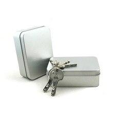 Комплект выживания Олова Higen Крышкой Небольшой Пустой Серебряный Флип Металл Хранения Box Дело Организатор Для Денег Монета Конфеты Ключи