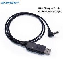 Baofeng Портативный USB Зарядное устройство кабель с индикатором для Baofeng UV-5R, UV-82, BF-F8HP, GT-3, UV-9R плюс рация Любительское радио