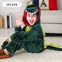 Pijama Infantil Onesie Hooded Kids Animal Cartoon Pajama Pink Green Dinosaur Children Boy Girl Unisex Pyjama