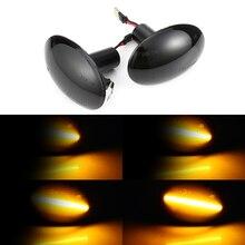 2 sztuk płynąca lampa boczna Repeater dynamiczne boczne światła obrysowe LED wskaźnik sygnału zwrotnego dla BMW MINI Cooper R55 R56 R57 R58 R59