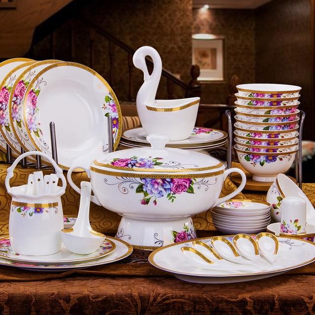 Luxus porzellan geschirr set Europäischen stil gerichte gesetzt ...