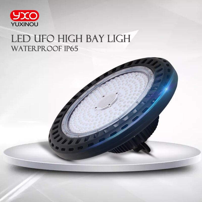 1 pcs IP65 100-277 v 100 w 150 w 200 w LED Projecteur Au Plafond Minière Lampe LED Industriel lampe LED UFO Lumière À Haute Baie Pour Entrepôt