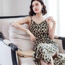 AOSSVIAO V Neck Backless Print Leopard Summer Beach Dress Women 2019 Fashion White Boho Off Shoulder Maxi  S~XL