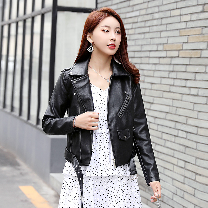 Gothic Faux Leather Jacket Womens Winter Autumn Motorcycle Black PU