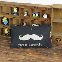 Japan and South Korea Hot Selling Cloth Cotton Pillow Lumbar Pillow with Pillow Cores  Bearded Pattern Containing Pillow