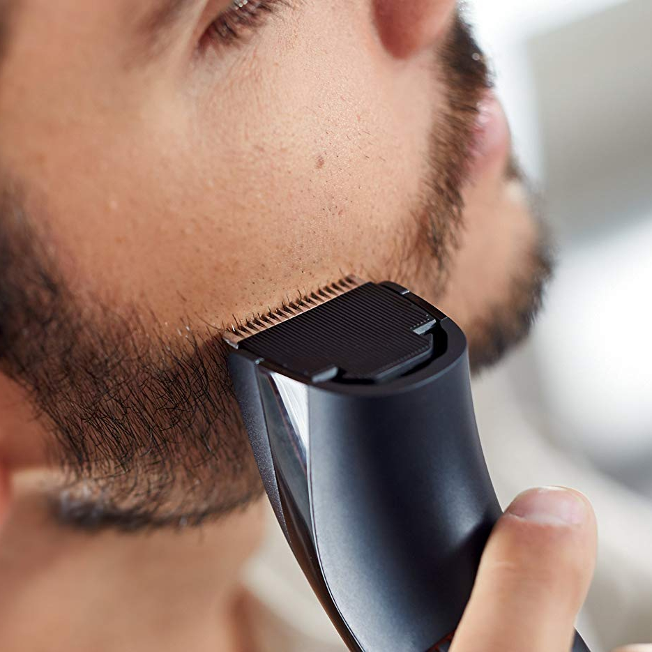 Men's grooming electric hair trimmer professional beard trimmer stubble trimer for men rechargeable face hair cutting machine 1