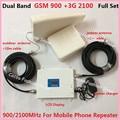 Display LCD GSM 3G Dual Band Repetidor GSM 900 UMTS WCDMA 2100 MHz 3G GSM Mobile Phone Signal Booster Amplificador de Celulares repetidor