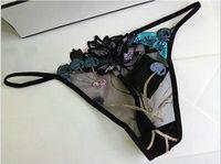 Donne mutandine sexy del merletto G-perizoma Ciliegia squisita del ricamo T-Back mutandine mutandine perizoma biancheria intima Vita Bassa