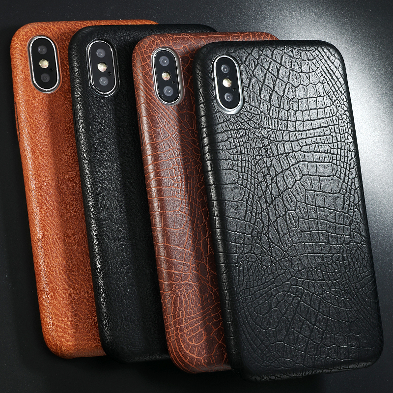 PU Leather Pattern Phone Case for iphone 6 6s 7 8 plus Case Back Cover For iphone X xs max XR Case (1)
