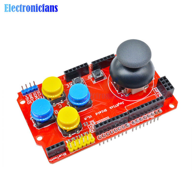 Strict Joystick Shield Board I2c Ps2 For Arduino Expansion Board Gaming Development 3.3v/5v Onboard Switch Analog Keyboard Mouse Integrated Circuits