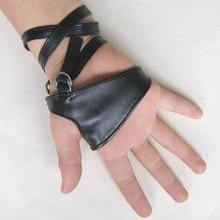 2017 Hot Sale Female Women Sexy Night Club Gloves Gothic Punk Rock Bla