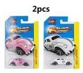 2pcs Pocket car 1:64 classic cars Beetle Alloy car model metallic material  toys for children