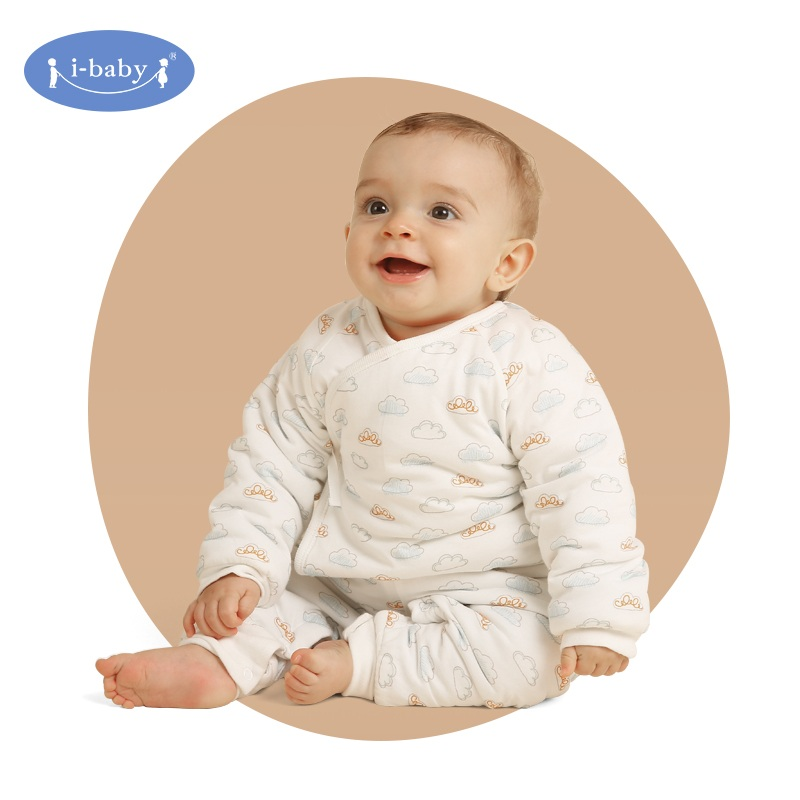 Spring i-baby Baby Clothes Set 100% PIMA Cotton Rompers Baby Boy Girl Clothes Infant Bodysuit Pants Jersey Cloud Newborn Ropa