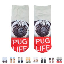 Animal Dogs Printed Women Socks Cotton Cute Lovely Sweat Absorb Knitted Harajuku