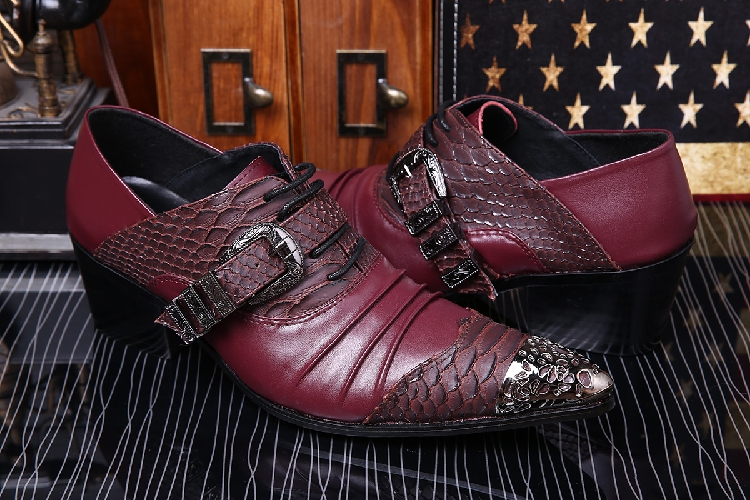 Mens Pointed Toe Dress Shoes Studded Black White Spiked Loafers Crocodile Skin Men Leather Shoes Iron Toe Formal Wedding Shoes Men's Shoes Formal Shoes