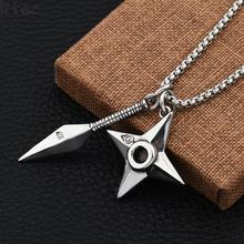 Vintage Silver Color Titanium Stainless Steel Kunai Darts Arrow Weapon Pendant Necklaces For Men Jewelry Hip Hop Gifts