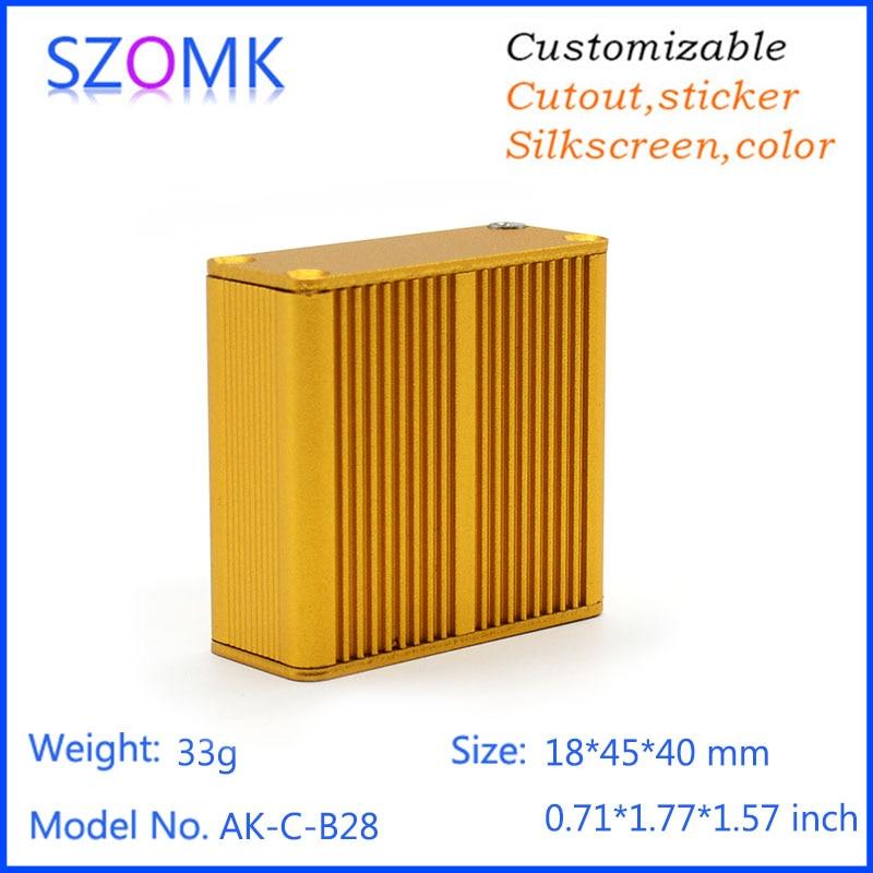 4 pieces consumer electronics aluminum extrusion enclosure instrument case electronics instrument enclosures szomk aluminum