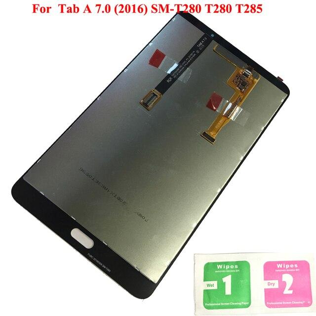 ЖК-дисплей Дисплей для Samsung Galaxy Tab 7,0 2016 SM-T280 SM-T285 T280 T285 ЖК-дисплей Сенсорный экран планшета сборки Tablet Запчасти для ПК