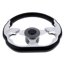 310mm D Shape Marine Boat Steering Wheel Non directional Aluminum Alloy 3/4 Key Way Tapered for Boatting