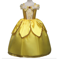 Baby Girls Anna Elsa Dress High Grade Princess Cinderella Fancy Kids Clothes For Birthday Party Costume