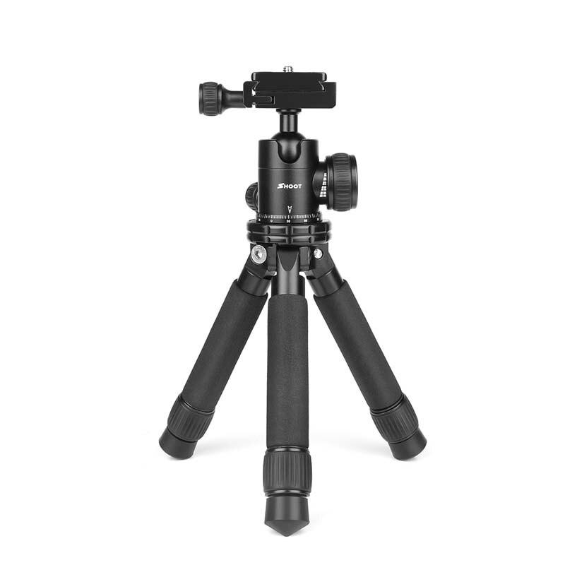 Портативная мини-камера штатив регулируемый стабильный штатив настольного типа для Go Pro Hero 7 6 5 Canon 60D Nikon sony Cam Stand - Цвет: with ball head