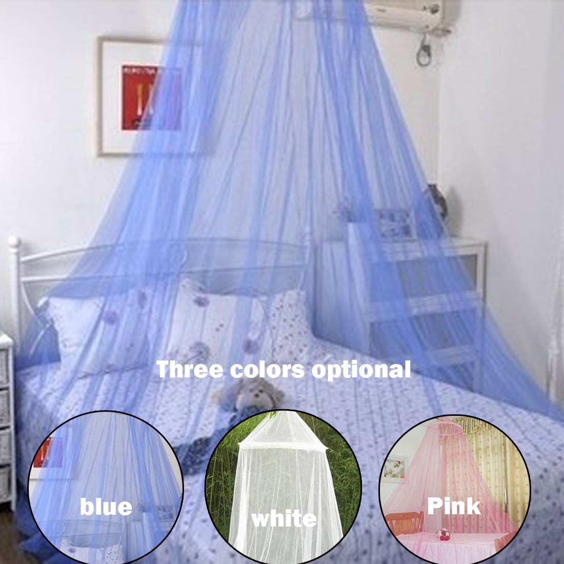 1Pcs 3Colors Direct Moustiquaire Dome Lace Hanging Mosquito Nets Classical Palace Mosquito Nets