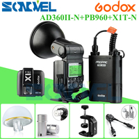 Tüketici Elektroniği'ten Flaşlar'de Godox AD 360 MARK II AD360II C TTL Güçlü Speedlite Flaş + PB960 siyah Pil + X1C TTL Verici canon + AD S15 + AD S17 kiti