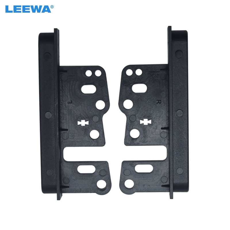 US $2 2 24% OFF|LEEWA Universal Bracket For Toyota Double Din Stereo Panel  Fascia Radio DVD Dash Mount Trim Kit Refit From 202*102mm #CA1662-in