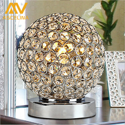 Modern k9 crystal table lamp led desk light e27 bedside living room office lampshade decoration luminaire.jpg 250x250