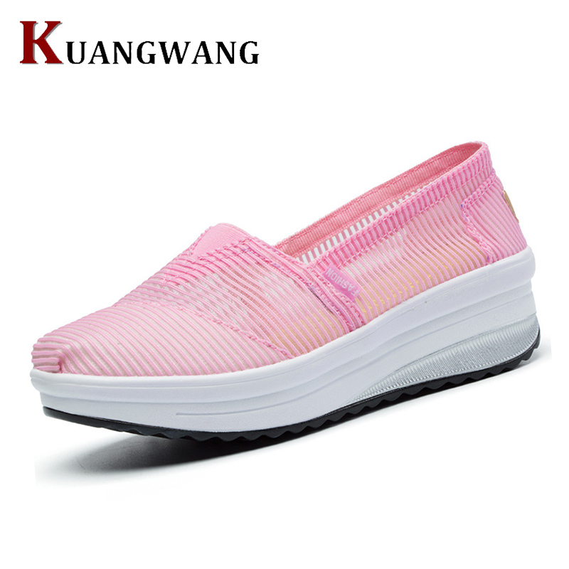 2017 Summer New Women Casual Shoes Breathable Mesh Loafers Female Shoes Fashion Handmade Lace Increase High Women's Shoes free shipping fashion loss weight women shoes spring summer autumn swing female breathable mesh shoes women casual shoes 2717w