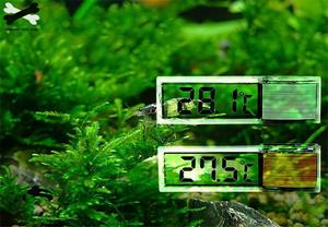 Image 3 - Aquarium thermometer Digital LCD electronic fish tank 3D Digital temperature gauge sticker shrimp fish turtle G3615