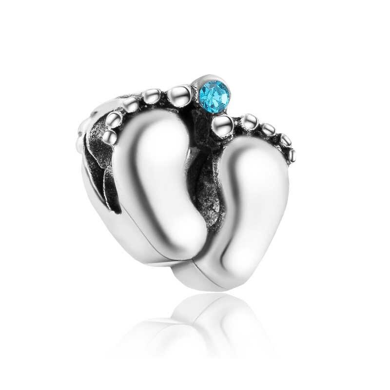 Alta calidad lindos corazones flecha bebé niño boca conejo Luna dijes cuentas Fit Pandora pulseras para mujeres DIY Pulsera Mujer bijoux