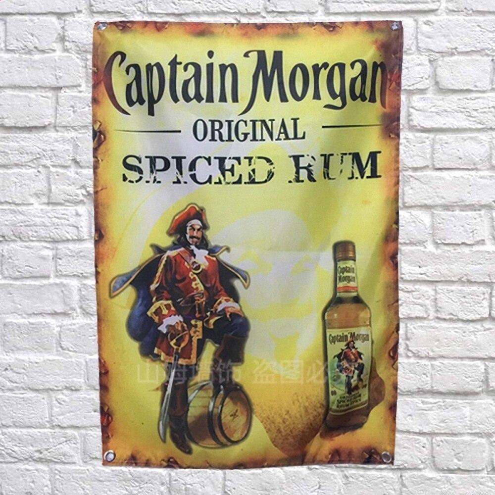 Captain Morgan Beer Poster Banners Bar Cafe Hotel Wall Decor Hanging ...