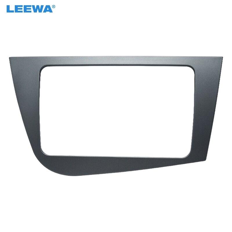 Otomobiller ve Motosikletler'ten Sargılar'de LEEWA araba 2Din Stereo radyo fasya çerçeve adaptörü Seat Leon 2005 2011 (RHD) ses Dash plaka paneli montaj Trim kiti # CA4098