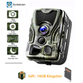 Suntekcam HC-801A 2019 новые охотничьи Камера 16MP 64 GB Trail Камера IP65 фото ловушки 0,3 s Время срабатывания 850nm дикий камера Trap