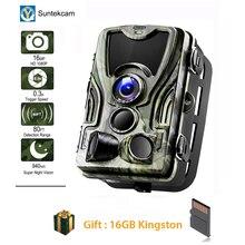 Suntekcam HC-801A 2019 Newest Hunting Camera 16MP 32GB Trail IP65 Photo Traps 0.3s Trigger Time 850nm Wild Trap