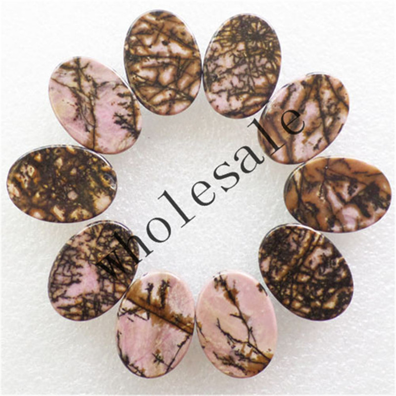 (12 pieces/lot) Wholesale High Quality Natural Rhodonite Oval CAB Cabochon for jewelry Accessories18X25X6mm Free Shipping J28