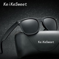 KeiKeSweet Fashion HD Polarized Men Women Driving Sunglasses Hot Vintage Brand Designer Coating UV400 Male Sun