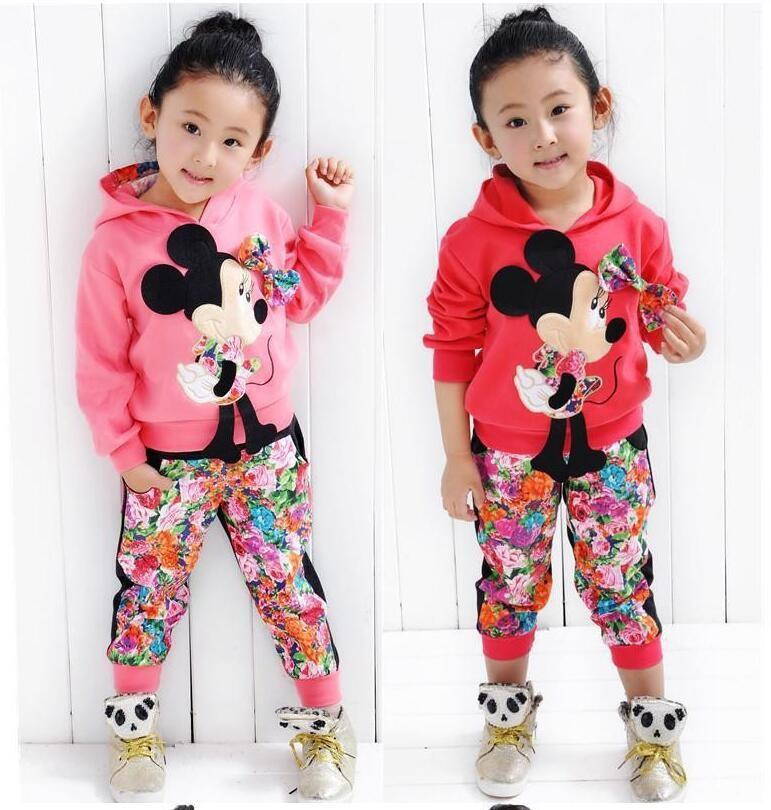 CNJiaYun Minnie Girls Clothing Sets Spring Casual