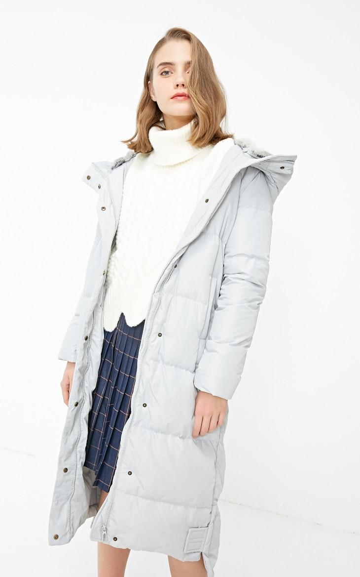Vero Moda new detachable rabbit fur hooded long down jacket women | 318312503 20