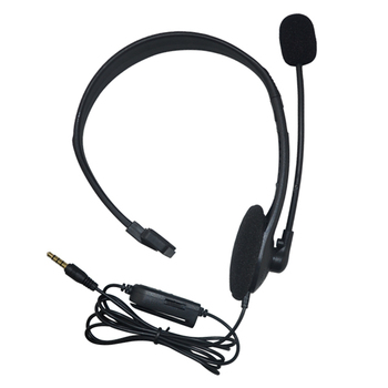 100pcs Wired  gaming Headset earphones with Microphone Headphones for PS4 games  Mini Single Headset