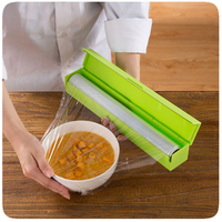Household Cling Film Cutter With Stainless Steel Blade Wrap Dispenser Preservative Foil Film Cutter Kitchen Tools
