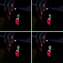 2 шт. автомобиля светодио дный двери свет для Audi A3 8 В A4 B8 B7 A6 C6 C5 A7 A8 Q3 Q5 Q7 TT R8 логотип проектор Предоставлено Призрак Тень подсветка в дверь